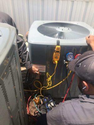 Replacing old HVAC unit with 3.0 Ton Goodman Unit – Dallas, TX photo